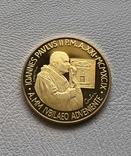 Ватикан 100000 лир 1999 год золото 917' 15 грамм, фото №2