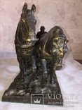 Сложносоставная бронзовая композиция «Пахарь», фото №7