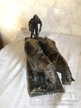 Сложносоставная бронзовая композиция «Пахарь», фото №8