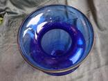 Ваза синее стекло.Богемия? 31,5 см., фото №12