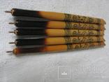 Ручки деревянные с Украинским орнаментом цветов, 5 шт., фото №6