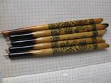 Ручки деревянные с Украинским орнаментом цветов, 5 шт., фото №3