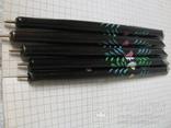 Ручки деревянные с цветным орнаментом, 5 шт., фото №8