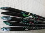 Ручки деревянные с цветным орнаментом, 5 шт., фото №10