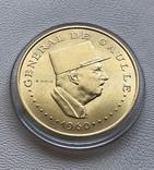 Чад 1960 год 10000 франков Де Голь золото 900', фото №2