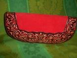 Клатч из натуральной замши и кожи с тиснением, фото №2