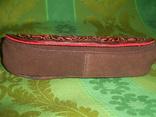 Клатч из натуральной замши и кожи с тиснением, фото №5