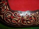 Клатч из натуральной замши и кожи с тиснением, фото №6