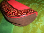 Клатч из натуральной замши и кожи с тиснением, фото №11