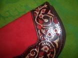 Клатч из натуральной замши и кожи с тиснением, фото №12