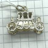 Кулон карета серебро, фото №4