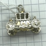 Кулон карета серебро, фото №5