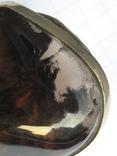 Большое кольцо обсидиан армения .19,5-20 размер.10,7 грамм., фото №8