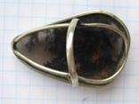 Большое кольцо обсидиан армения .19,5-20 размер.10,7 грамм., фото №11