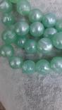 Бусы  цвета мяты , 94 см., Яблонекс, фото №9