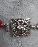 Бусы красные  50 см, Яблонекс,Чехословакия, фото №5