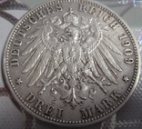 3 марки 1909г. (F), Вюртемберг, Пруссия, фото №3