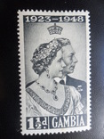 Британские колонии. Гамбия.1948 г.  МН, фото №2