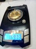 Швейцарские золотые часы Lucien piccard с бриллиантом, фото №6