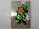 Уолт Дисней/Walt Disney Company. Минни Маус подружка Ми́кки Ма́уса.Необычная-фольга., фото №3