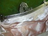 Сумочка розовая расшитая бусинами.бисером и пайетками, фото №7