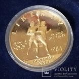 10 долларов США 1984г.Олимпиада., фото №2