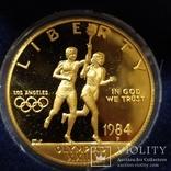 10 долларов США 1984г.Олимпиада., фото №4