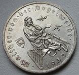 """3 марки 1930 г. (G) Веймарская республика """"Вальтер фон дер Фогельвейде"""", серебро, фото №5"""