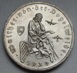 """3 марки 1930 г. (G) Веймарская республика """"Вальтер фон дер Фогельвейде"""", серебро, фото №6"""