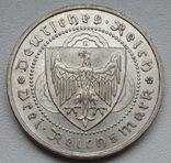 """3 марки 1930 г. (G) Веймарская республика """"Вальтер фон дер Фогельвейде"""", серебро, фото №7"""