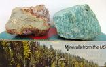 Целестин, амазонит. Сувенирные образцы минералов. Экспортсамоцветы СССР., фото №8