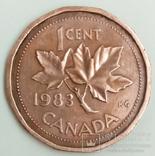 1 цент 1983 г. Канада, фото №2