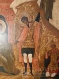 Икона Поклонение Архангелу Михаилу конец 17 начало 18 века, фото №6