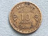 Марокко 10 франков 1952 года, фото №2