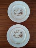 Тарелка пейзаж лебедь Барановка  2 шт, фото №2