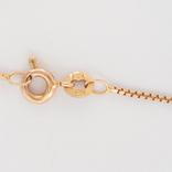 Винтажная золотая подвеска ''сердце'' с натуральным гранатом на цепочке, фото №4