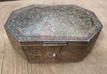 Серебряная шкатулка с флоральным декором., фото №2