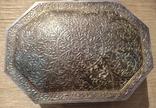 Серебряная шкатулка с флоральным декором., фото №3