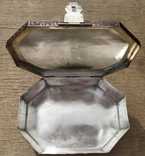 Серебряная шкатулка с флоральным декором., фото №8