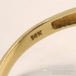Винтажное золотое кольцо с натуральным топазом, фото №8