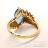 Винтажное золотое кольцо с натуральным топазом, фото №10