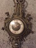 Бронзовые настенные часы «Грифоны», фото №2