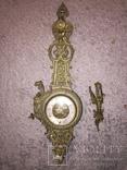 Бронзовые настенные часы «Грифоны», фото №3