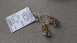 Серьги золото 585, вставки цирконы., фото №10
