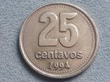 Аргентина 25 сентаво 1994 года, фото №2