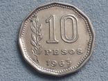 Аргентина 10 песо 1963 года, фото №2