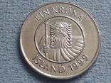 Исландия 1 крона 1999 года, фото №3