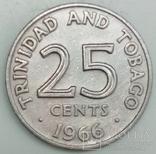 25 центов 1966 г. Тринидад и Тобаго, фото №3