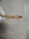 Браслет кольцо с камушками, фото №4