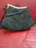 Старинная сумочка черный бархат, фото №4
